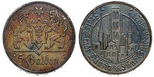 5 Gulden Gdansk (1920-1939) Plata