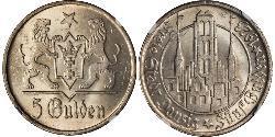 5 Gulden Gdansk (1920-1939) Silber