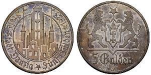 5 Gulden Gdansk (1920-1939) Silver