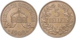 5 Heller Deutsch-Ostafrika (1885-1919) Bronze