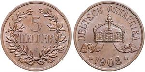 5 Heller German East Africa (1885-1919) Bronze