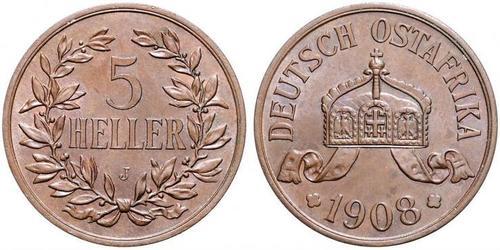 5 Heller German East Africa (1885-1919) Bronze