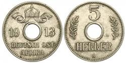 5 Heller German East Africa (1885-1919) Copper/Nickel