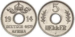 5 Heller Deutsch-Ostafrika (1885-1919) Kupfer/Nickel