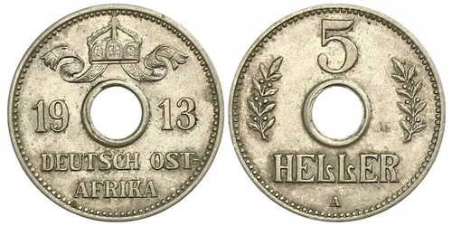 5 Heller Deutsch-Ostafrika (1885-1919) Kupfer/Nickel