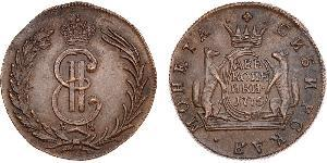 5 Kopeck 俄罗斯帝国 (1721 - 1917) 銅 叶卡捷琳娜二世 (1729-1796)