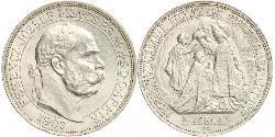 5 Korona Österreich-Ungarn (1867-1918) Silber Franz Joseph I (1830 - 1916)