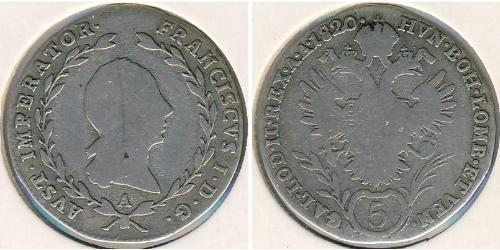 5 Kreuzer Austrian Empire (1804-1867) Silver Francis II, Holy Roman Emperor (1768 - 1835)