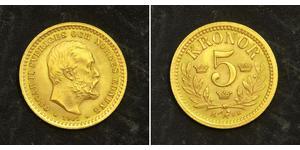 5 Krone Sweden Gold Oscar II of Sweden (1829-1907)
