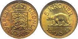 5 Krone Grönland Messing