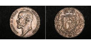 5 Krone Liechtenstein Silber Johann II, Prince of Liechtenstein (1840-1929)
