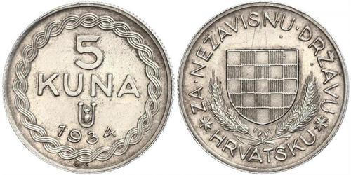 5 Kuna Kroatien Silber