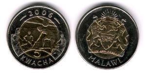 5 Kwacha Malawi Bimetal