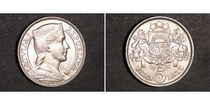 5 Lats Letonia (1991 - ) Plata