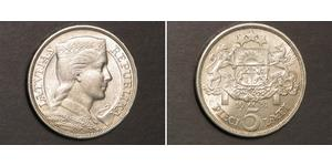 5 Lats Latvia (1991 - ) Silver