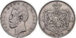 5 Leu Reino de Rumanía (1881-1947) Plata Carlos I de Rumania (1839 - 1914)
