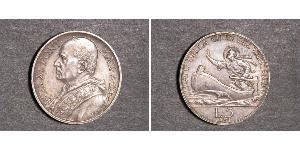 5 Lira 梵蒂冈 金 庇護十一世