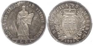 5 Lira San Marino 銀