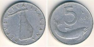 5 Lira Italien Aluminium