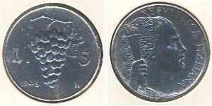 5 Lira Italy Aluminium