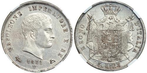 5 Lira Italie Argent