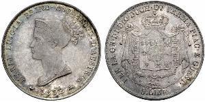 5 Lira Italie / Duché de Parme et de Plaisance (1545 - 1859) Argent Marie-Louise d