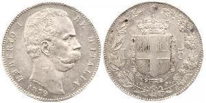 5 Lira Kingdom of Italy (1861-1946) Argento Umberto I (1844-1900)