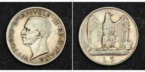 5 Lira Kingdom of Italy (1861-1946) Argento Vittorio Emanuele III d