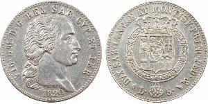 5 Lira Reino de Cerdeña (1324 - 1861) Plata Víctor Manuel I de Cerdeña
