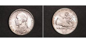 5 Lira Vatican (1926-) Plata Pío XII (1876 - 1958)