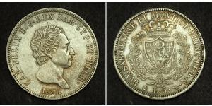 5 Lira Italian city-states Silber Karl Felix (Sardinien-Piemont)