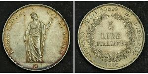 5 Lira Italian city-states Silber