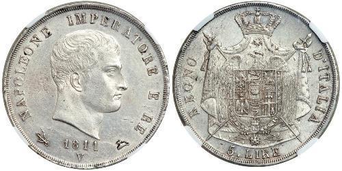 5 Lira Italien Silber