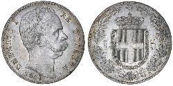 5 Lira Kingdom of Italy (1861-1946) Silber Umberto I (1844-1900)