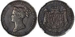 5 Lira Duchy of Parma (1545 - 1859) / Italy Silver Marie Louise, Duchess of Parma