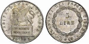 5 Lira Italian city-states Silver