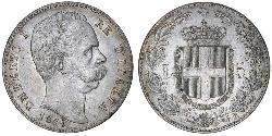5 Lira Kingdom of Italy (1861-1946) Silver Umberto I (1844-1900)