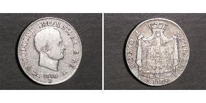 5 Lira Kingdom of Italy (Napoleonic) (1805–1814) Silver Napoleon (1769 - 1821)