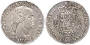 5 Lira Kingdom of Sardinia (1324 - 1861) Silver Victor Emmanuel I of Sardinia