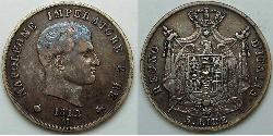 5 Lira First French Empire (1804-1814)  Napoleon (1769 - 1821)