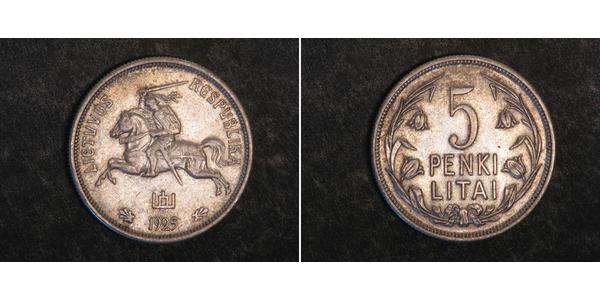 5 Litas 立陶宛 銀