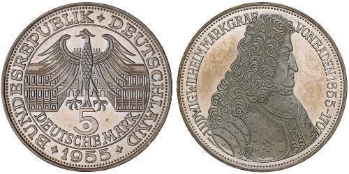 5 Mark 德国 銀