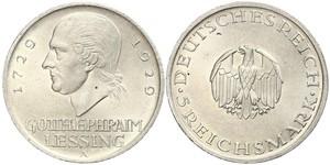 5 Mark 德意志帝國 (1871 - 1918) 銀 戈特霍尔德·埃夫莱姆·莱辛