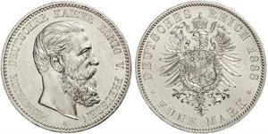 5 Mark 普魯士王國 (1701 - 1918) 銀 腓特烈三世 (德国)