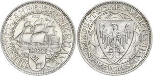 5 Mark 魏瑪共和國 (1919 - 1933) 銀