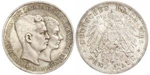 5 Mark null 銀 恩斯特·奧古斯特三世 (漢諾威) (1887 - 1953)