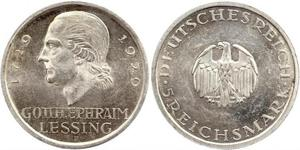 5 Mark Empire allemand (1871-1918) Argent Gotthold Ephraim Lessing