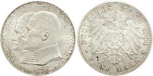 5 Mark Grand-duché de Hesse (1806 - 1918) Argent Ernest-Louis de Hesse (1868 - 1937)
