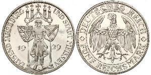 5 Mark République de Weimar (1918-1933) Argent