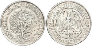 5 Mark République de Weimar (1918-1933) / Allemagne Argent
